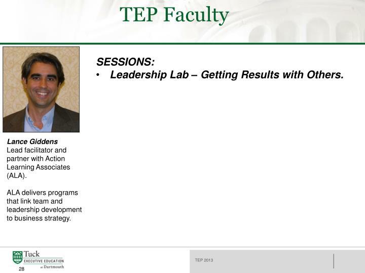 TEP Faculty