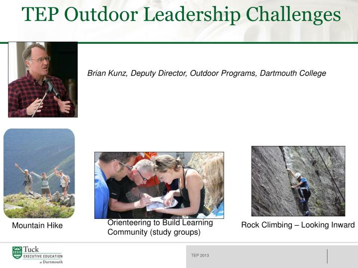 TEP Outdoor Leadership Challenges