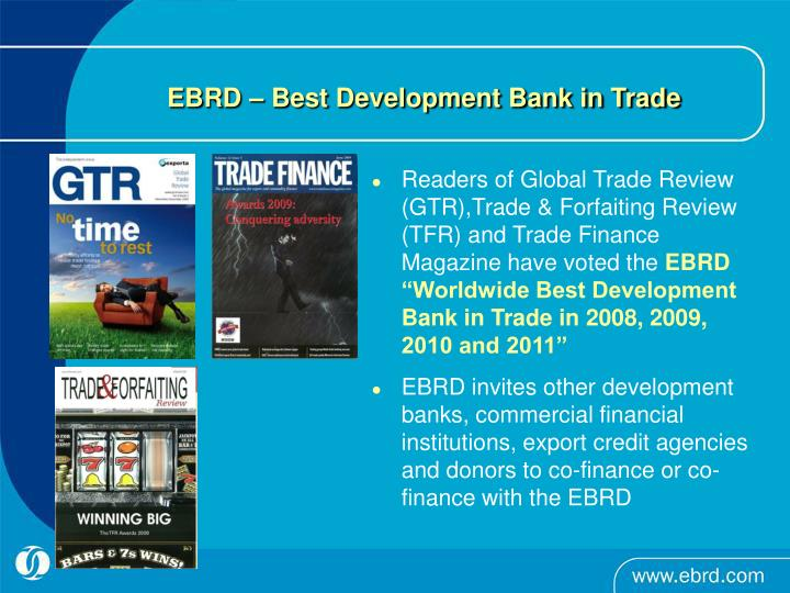 EBRD – Best Development Bank in Trade