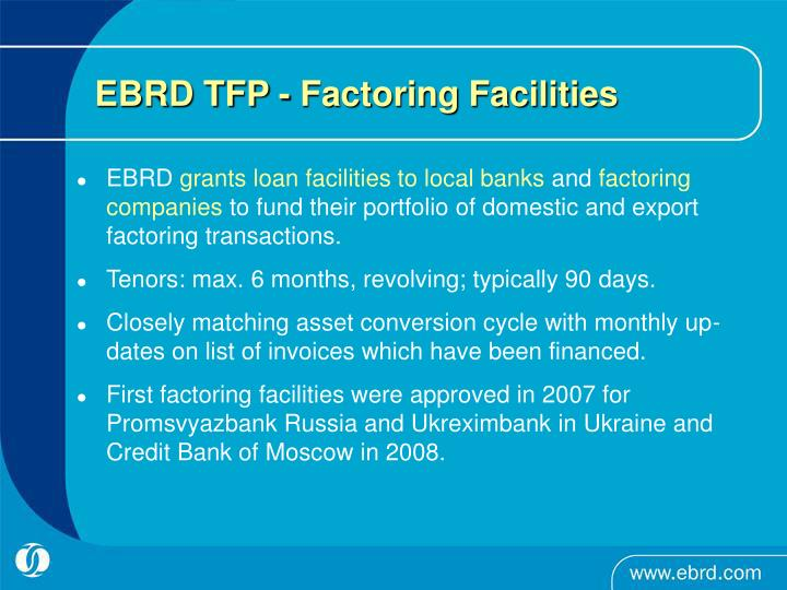 EBRD TFP - Factoring Facilities