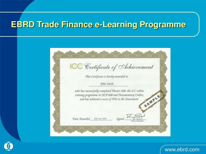 EBRD Trade Finance e-Learning Programme