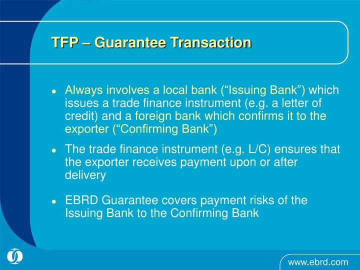 TFP – Guarantee Transaction