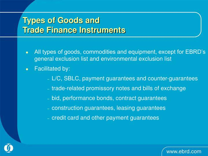 Types of Goods and