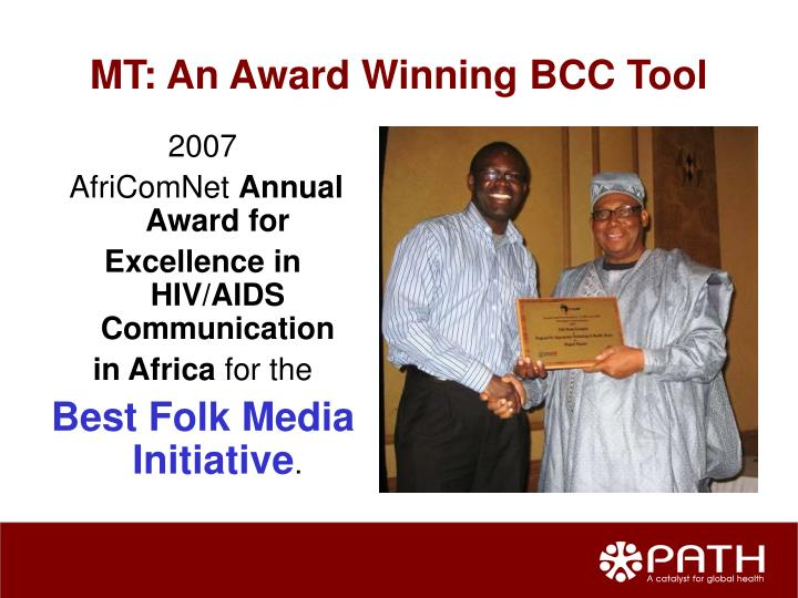 MT: An Award Winning BCC Tool