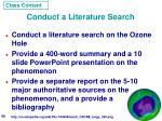 conduct a literature search