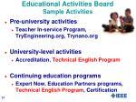 educational activities board sample activities1