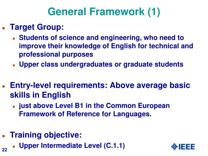 General Framework (1)