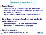 general framework 1