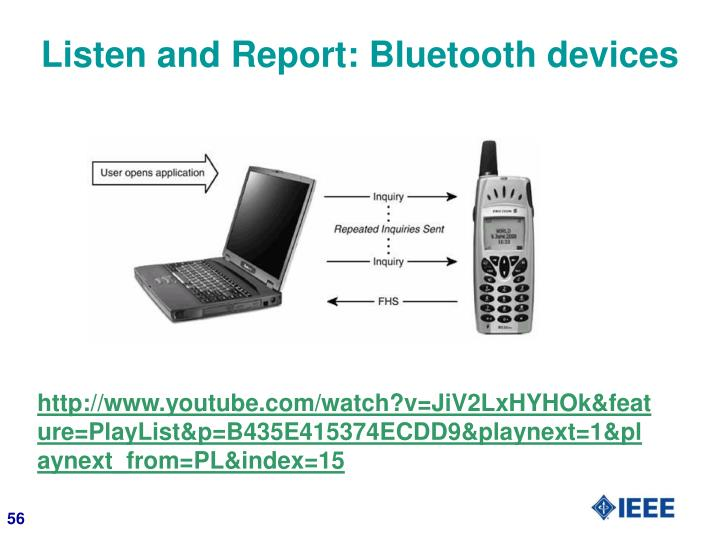 Listen and Report: Bluetooth devices