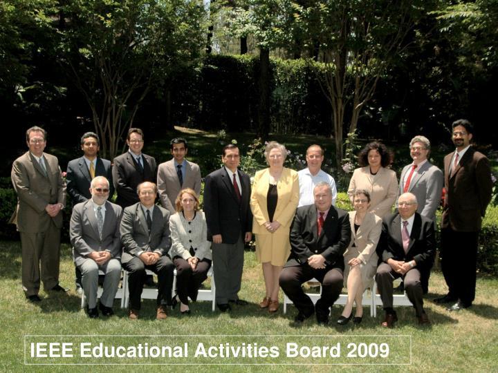 IEEE Educational Activities Board 2009