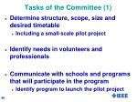 tasks of the committee 1