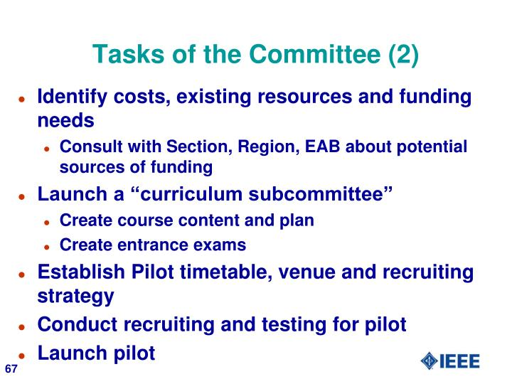 Tasks of the Committee (2)