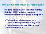 why are we meeting in st petersburg1