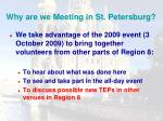 why are we meeting in st petersburg2