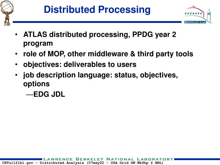Distributed processing1
