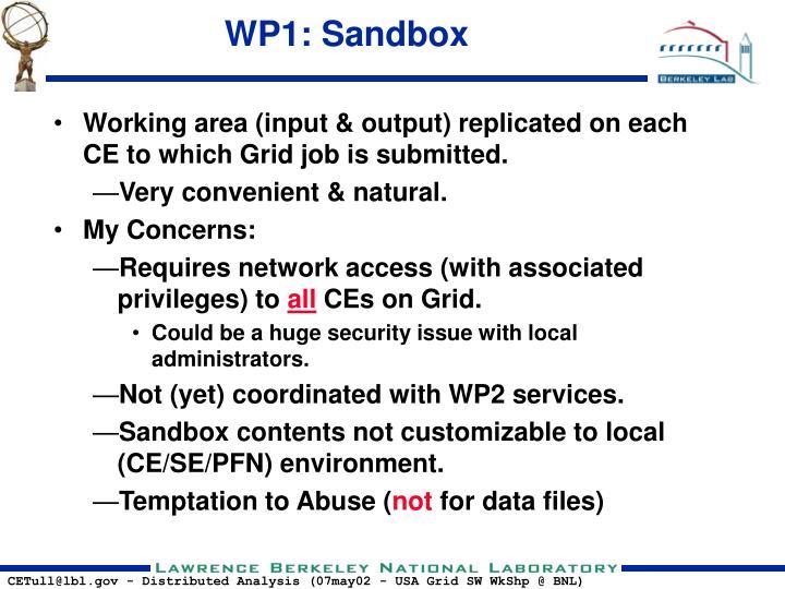 WP1: Sandbox
