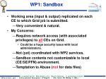 wp1 sandbox