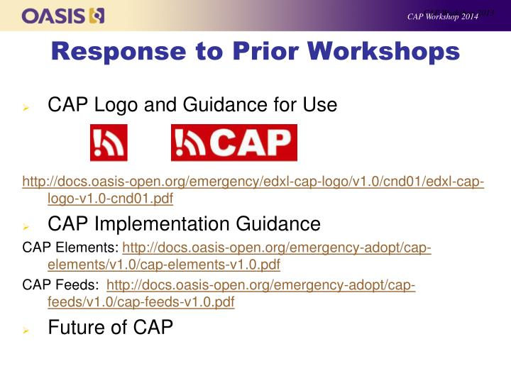 CAP Workshop 2013