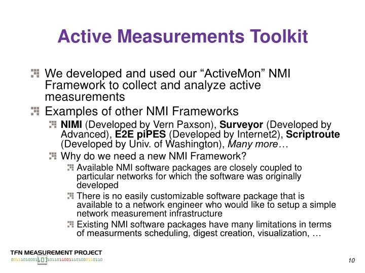Active Measurements Toolkit