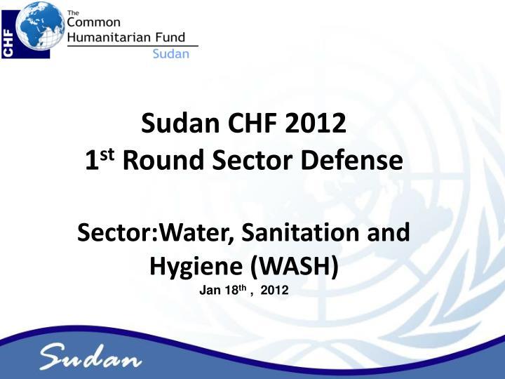 Sudan CHF 2012
