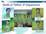 staffs of twnic ip department