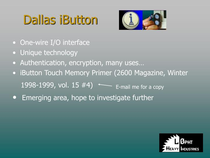 Dallas iButton