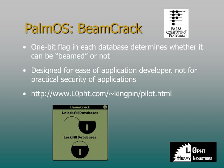 PalmOS: BeamCrack