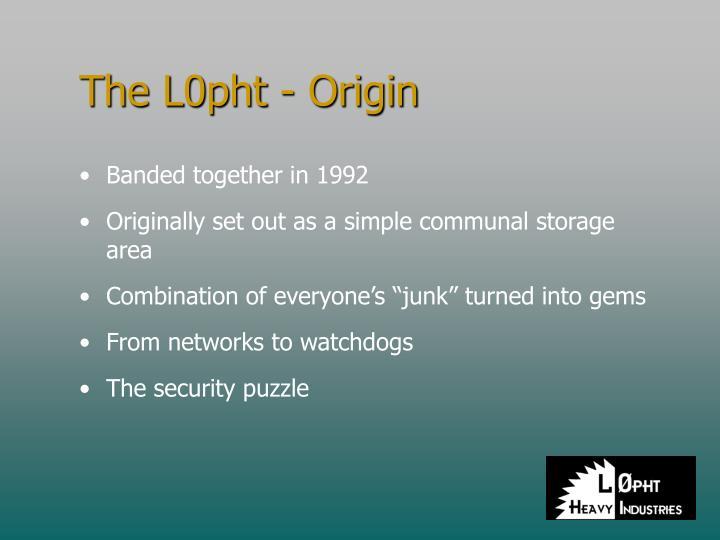 The L0pht - Origin
