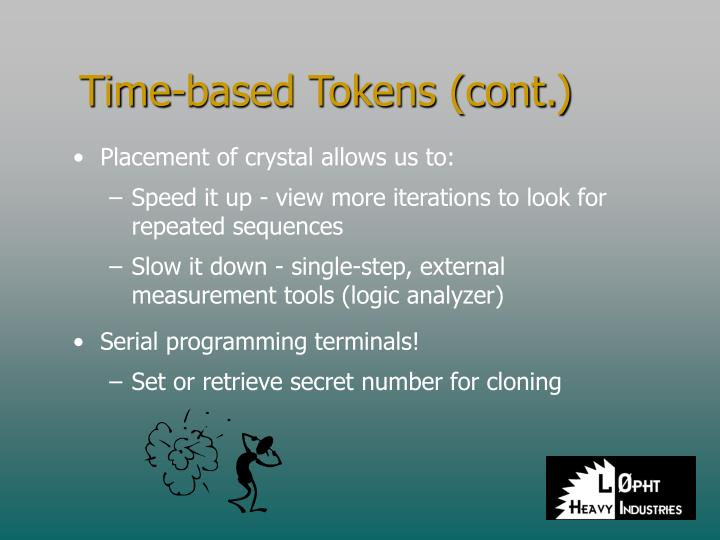 Time-based Tokens (cont.)