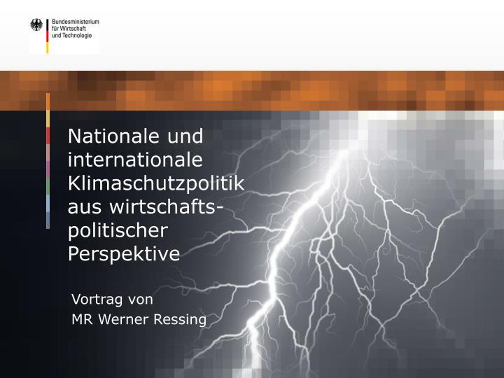 Nationale und internationale Klimaschutzpolitik