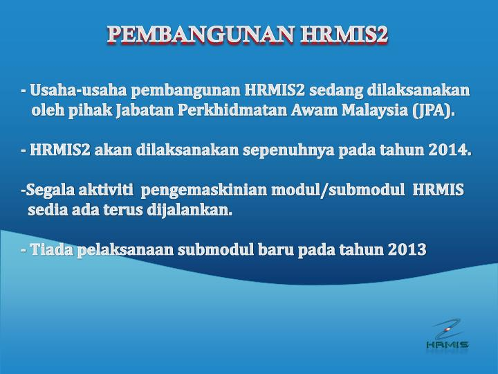 PEMBANGUNAN HRMIS2