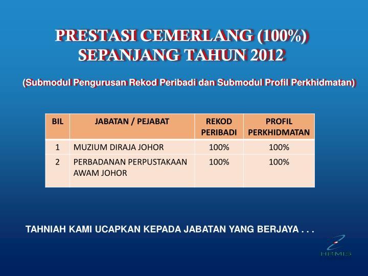 PRESTASI CEMERLANG (100%)