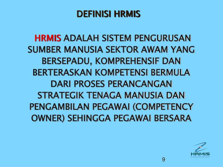 DEFINISI HRMIS