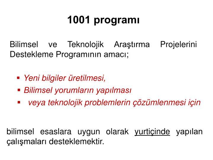 1001 programı