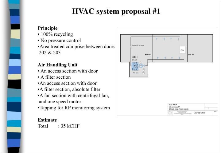 HVAC system proposal #1