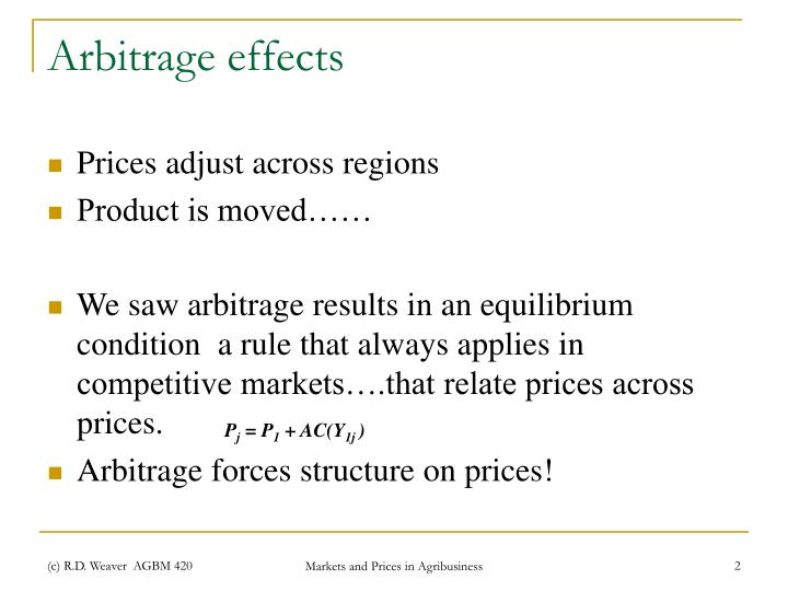 Arbitrage effects