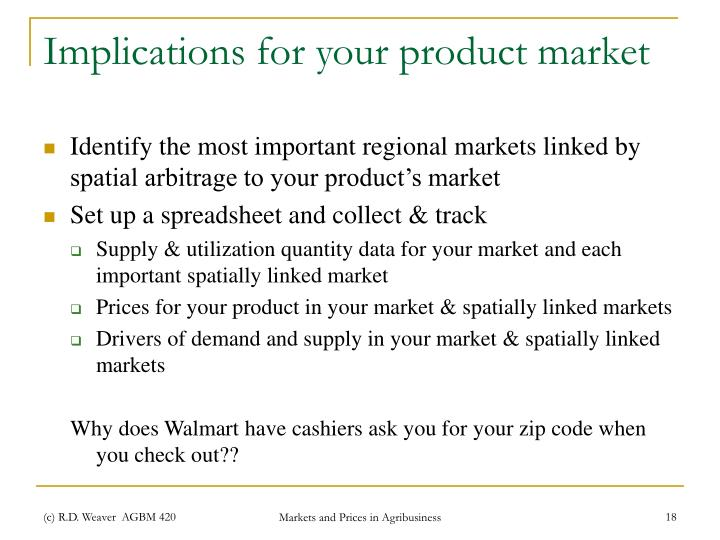 Implications for your product market