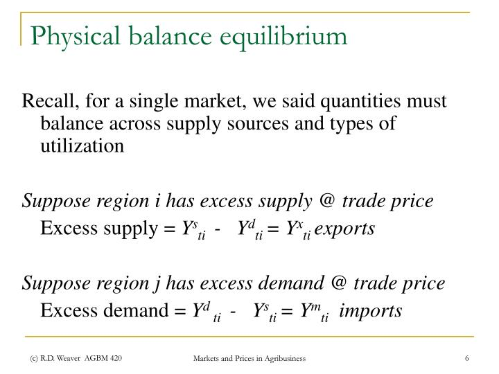 Physical balance equilibrium