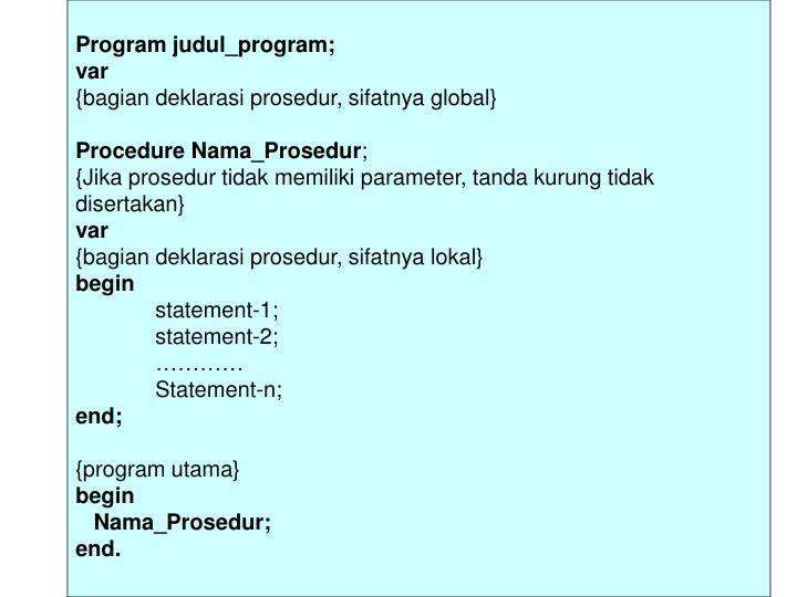 Program judul_program;