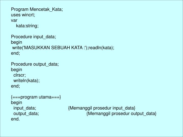 Program Mencetak_Kata;