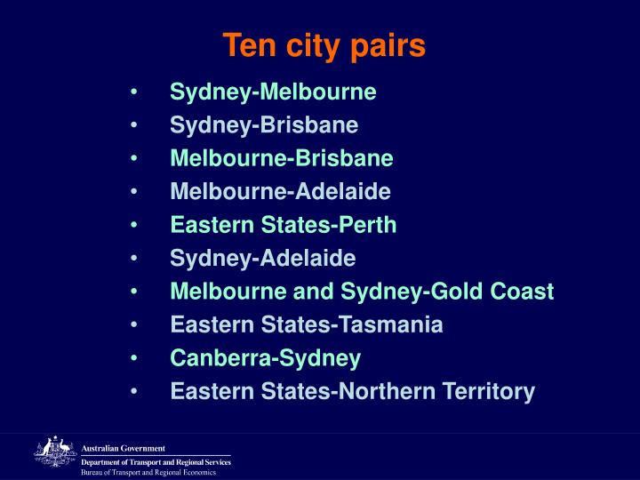 Ten city pairs