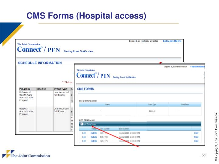 CMS Forms (Hospital access)