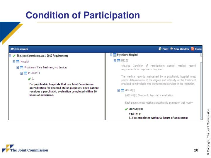 Condition of Participation