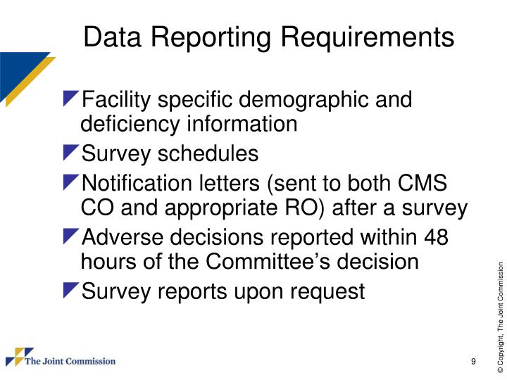 Data Reporting Requirements