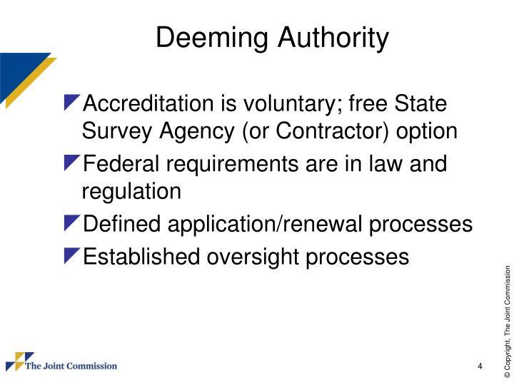 Deeming Authority