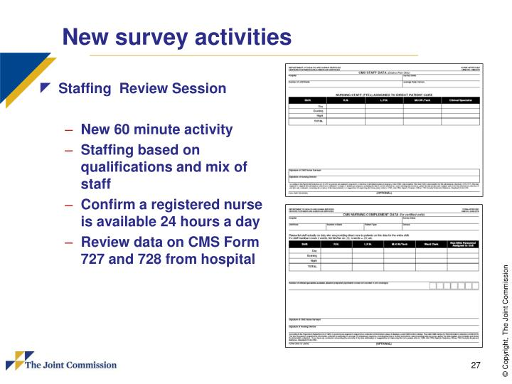New survey activities