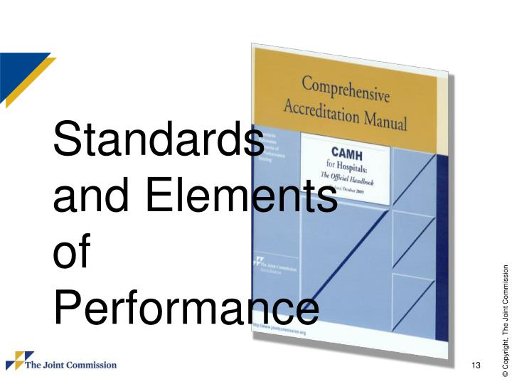 Standards and Elements of Performance