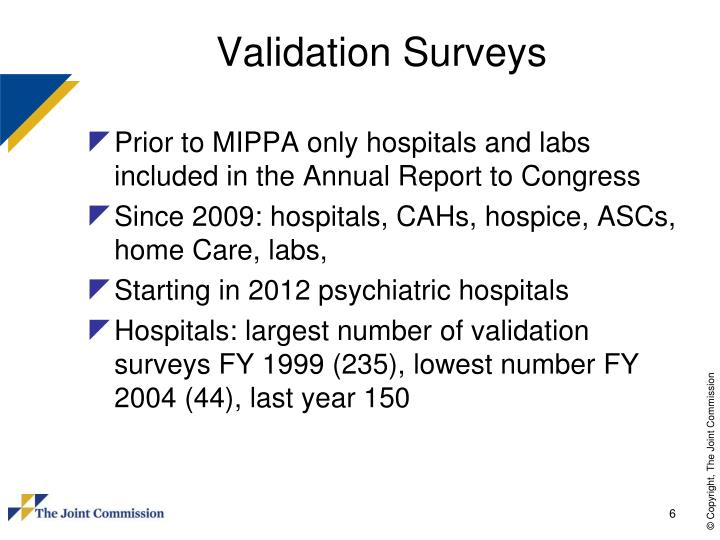 Validation Surveys