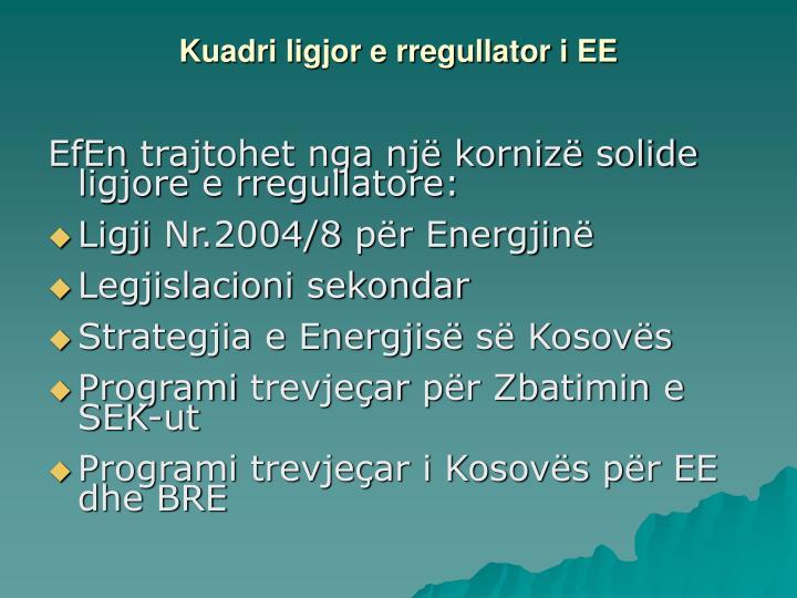 Kuadri ligjor e rregullator i EE