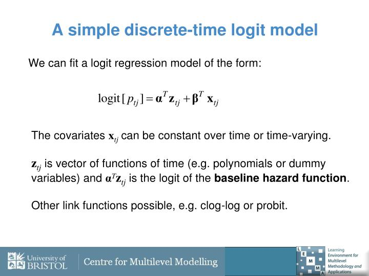 A simple discrete-time logit model